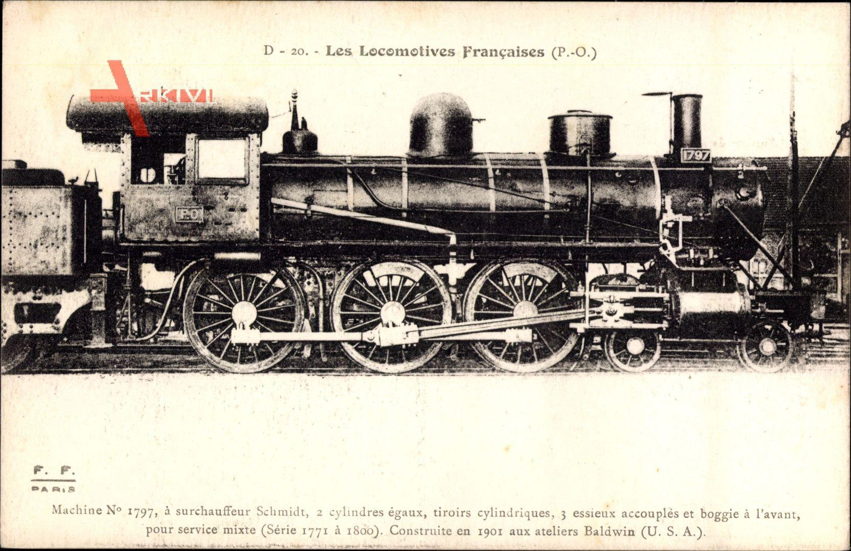 Französische Eisenbahn, Chemin de fer, Locomotive, PO, Machine No 1797