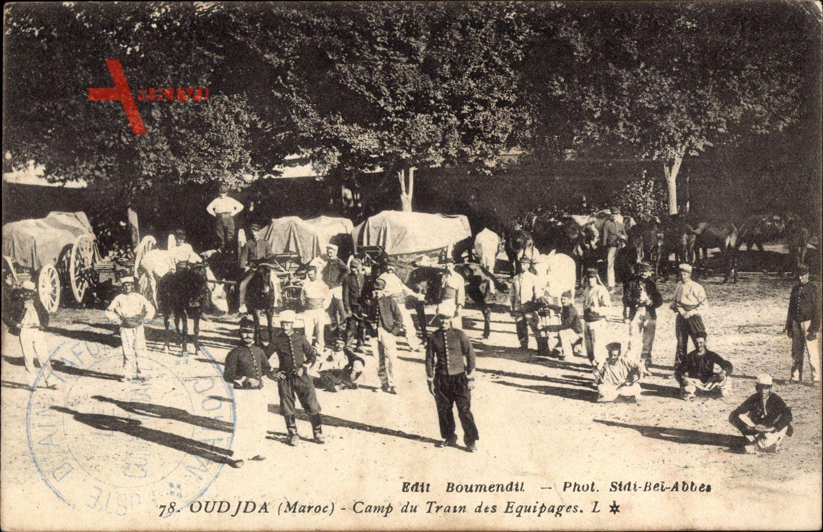 Oudja Marokko, Camp du Train des Equipages, Soldaten