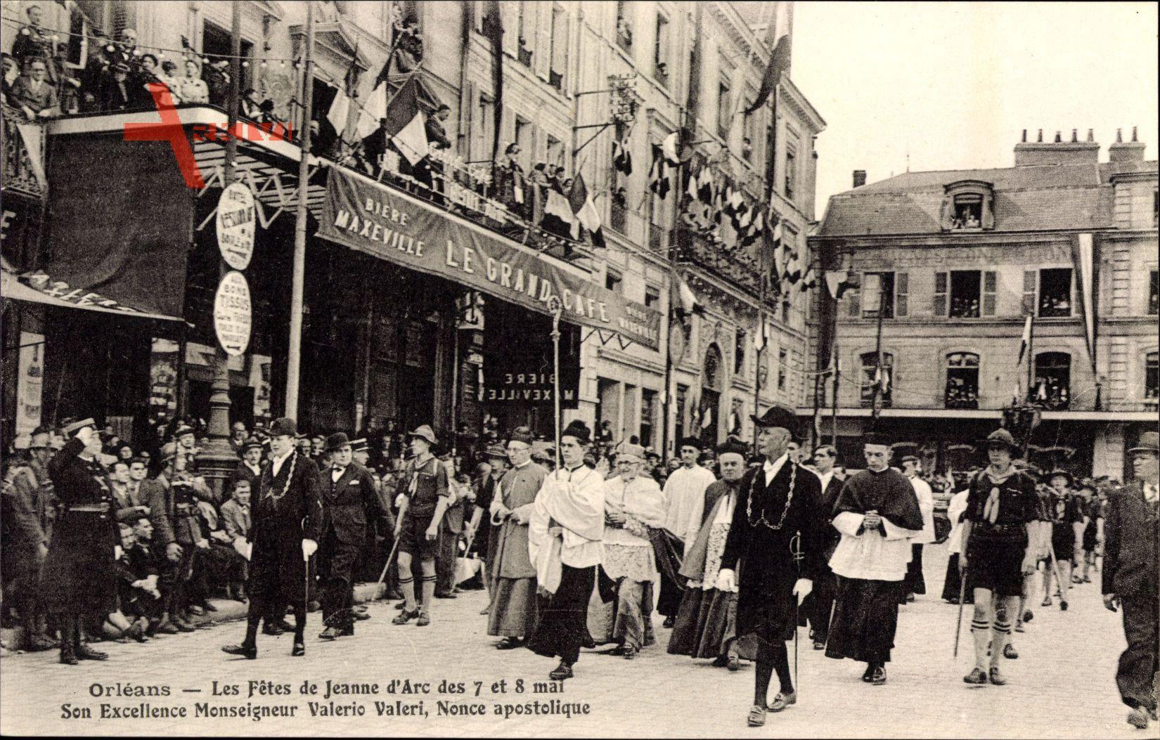 Orléans Loiret, Les Fêtes de Jeanne dArc, Valerio Valeri, Nonce apostolique