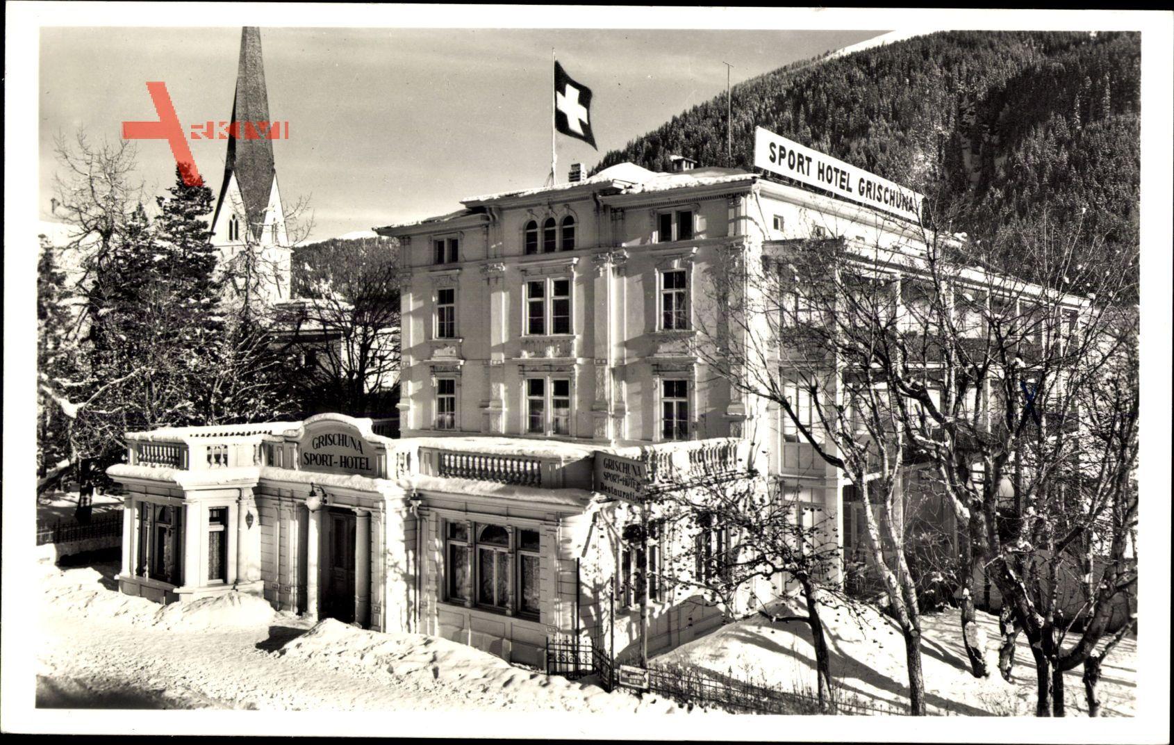 Davos Kt. Graubünden Schweiz, Sporthotel Grischuna, O. Senn Badrutt