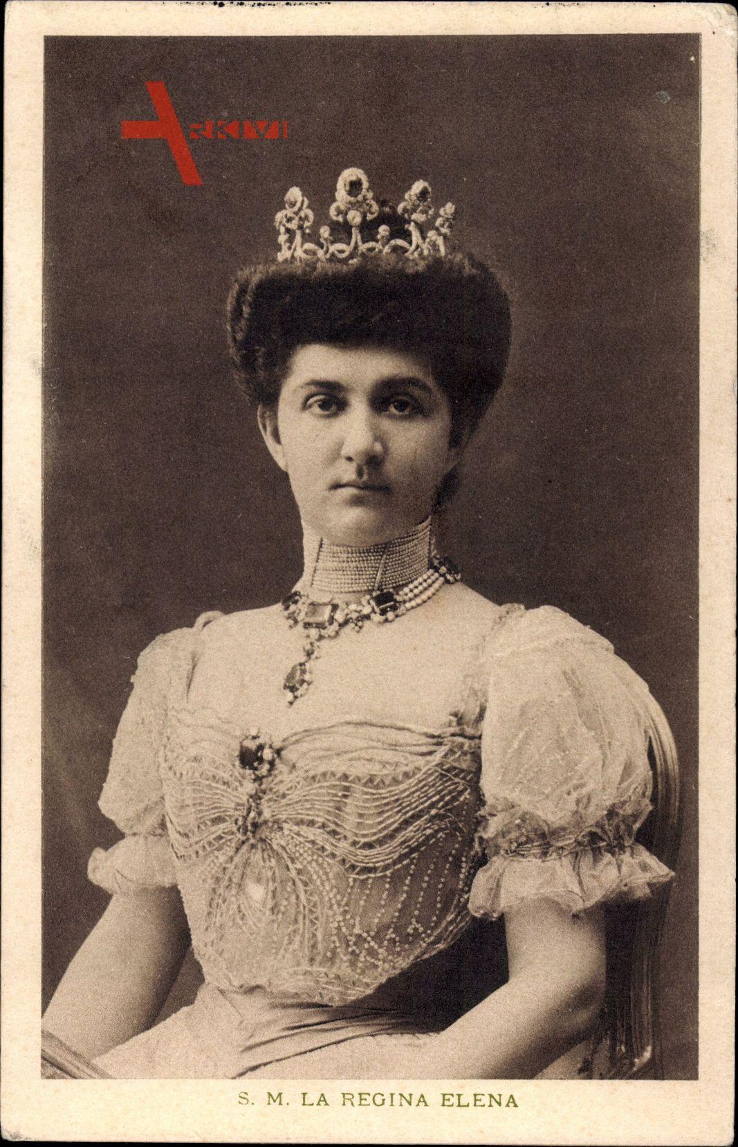 Königin Helena von Italien, Elena von Montenegro, Sitzportrait