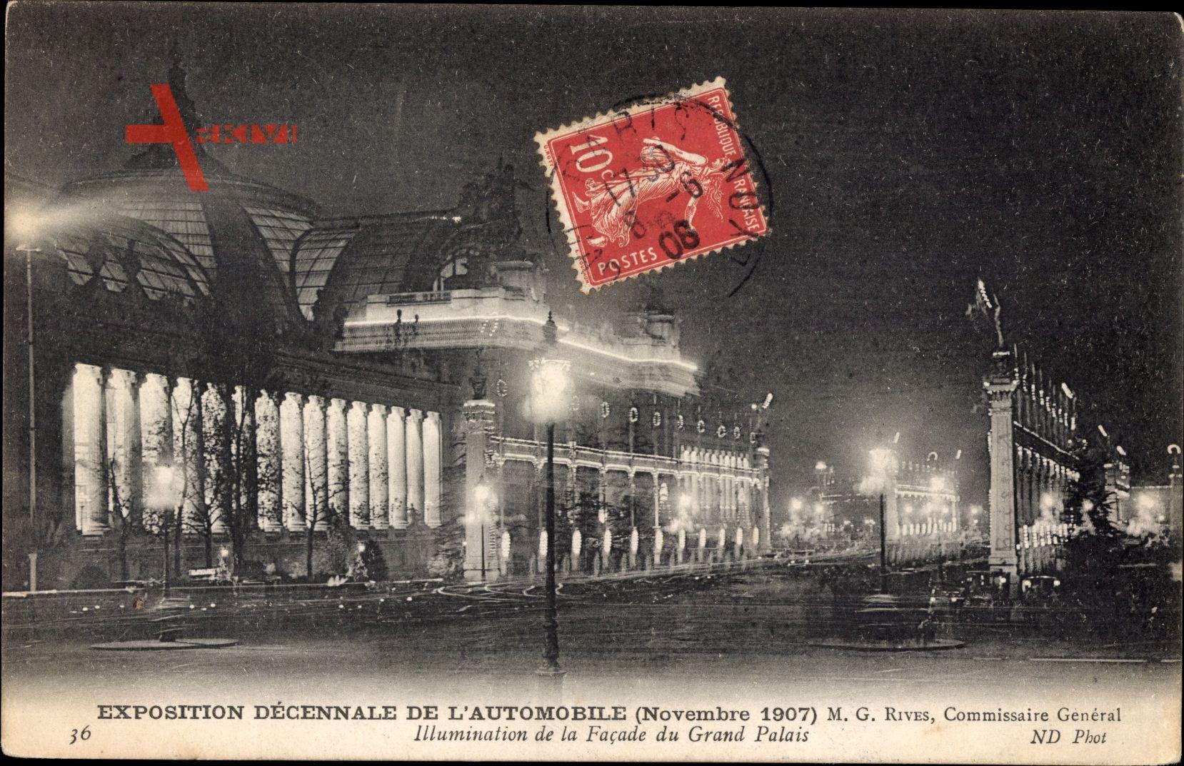 Exposition Décennale de lAutomobile, Novembre 1907, Illumination de nuit