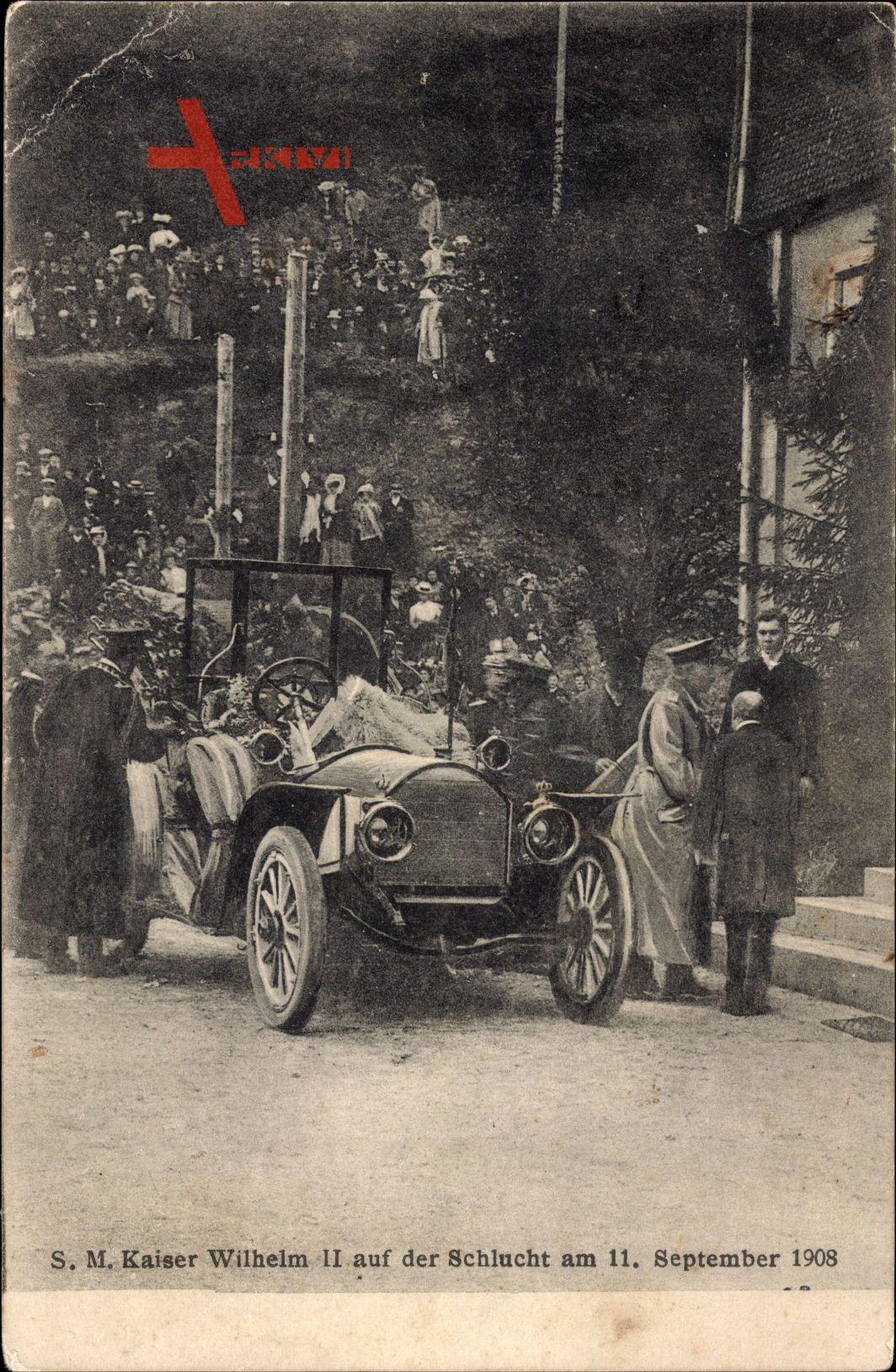 Kaiser Wilhelm II., Schlucht, 11 September 1908, Auto