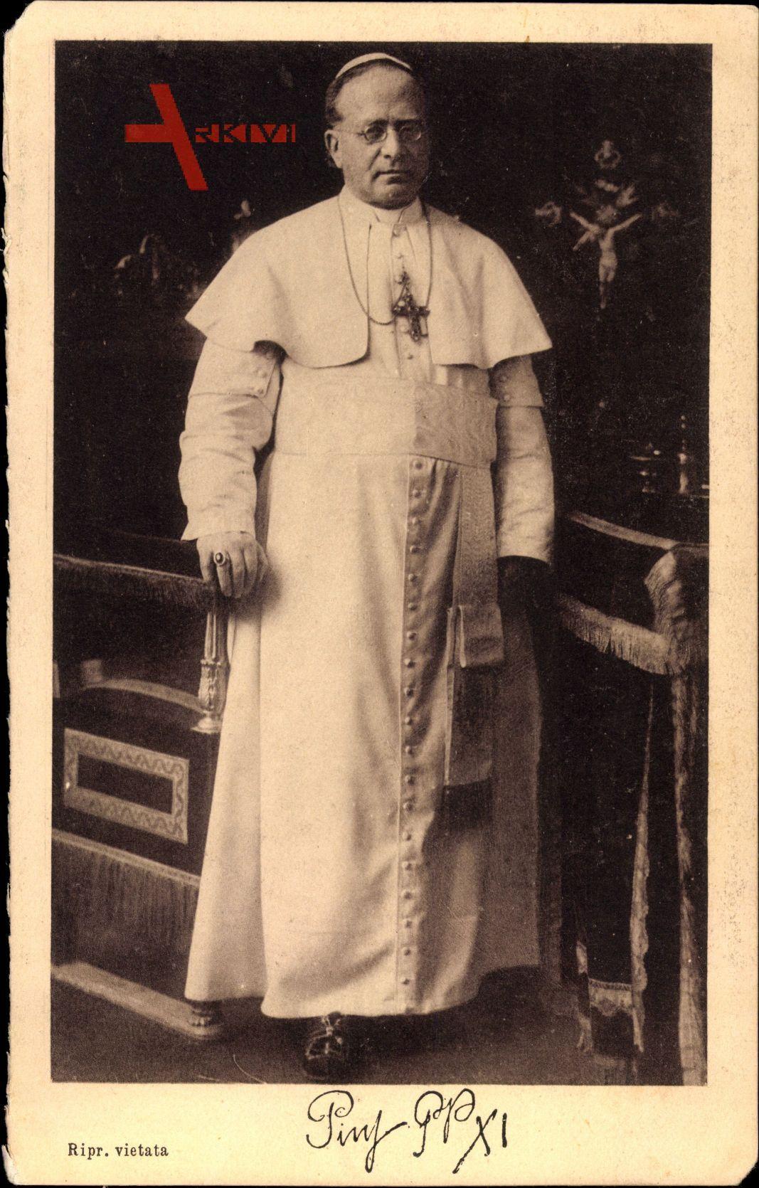 Papst Pius XI., Achille Ambrogio Damiano Ratti, Standportrait