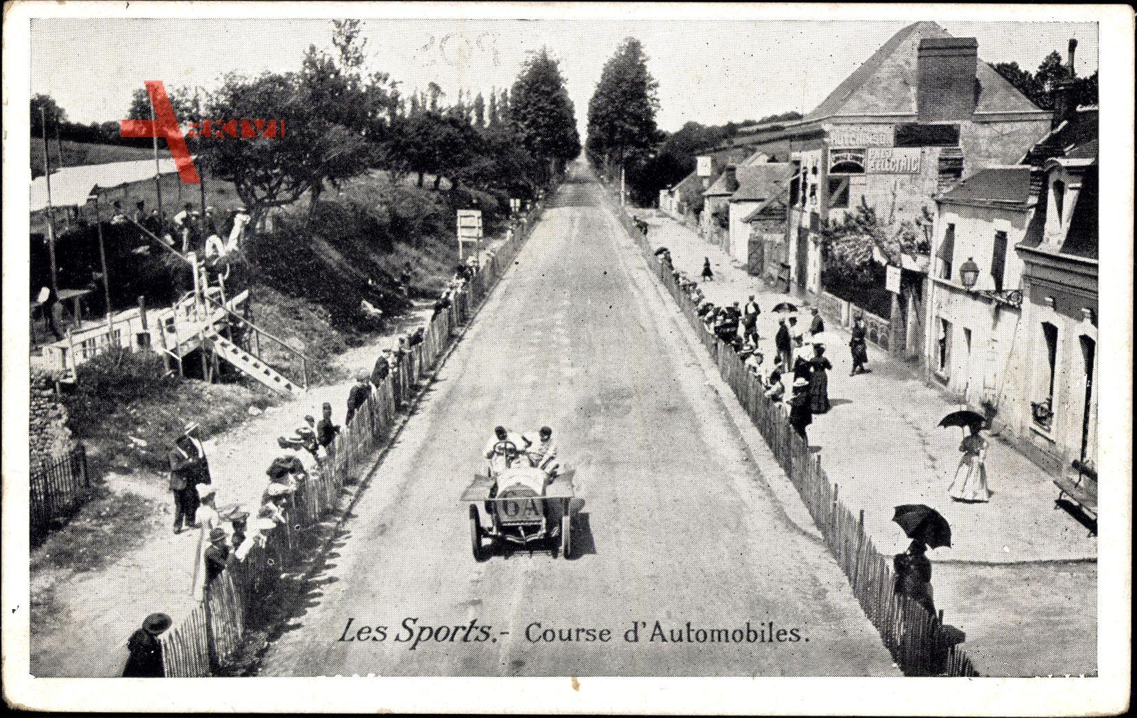 Les Sports, Course dAutomobiles, Autorennen, Rennwagen
