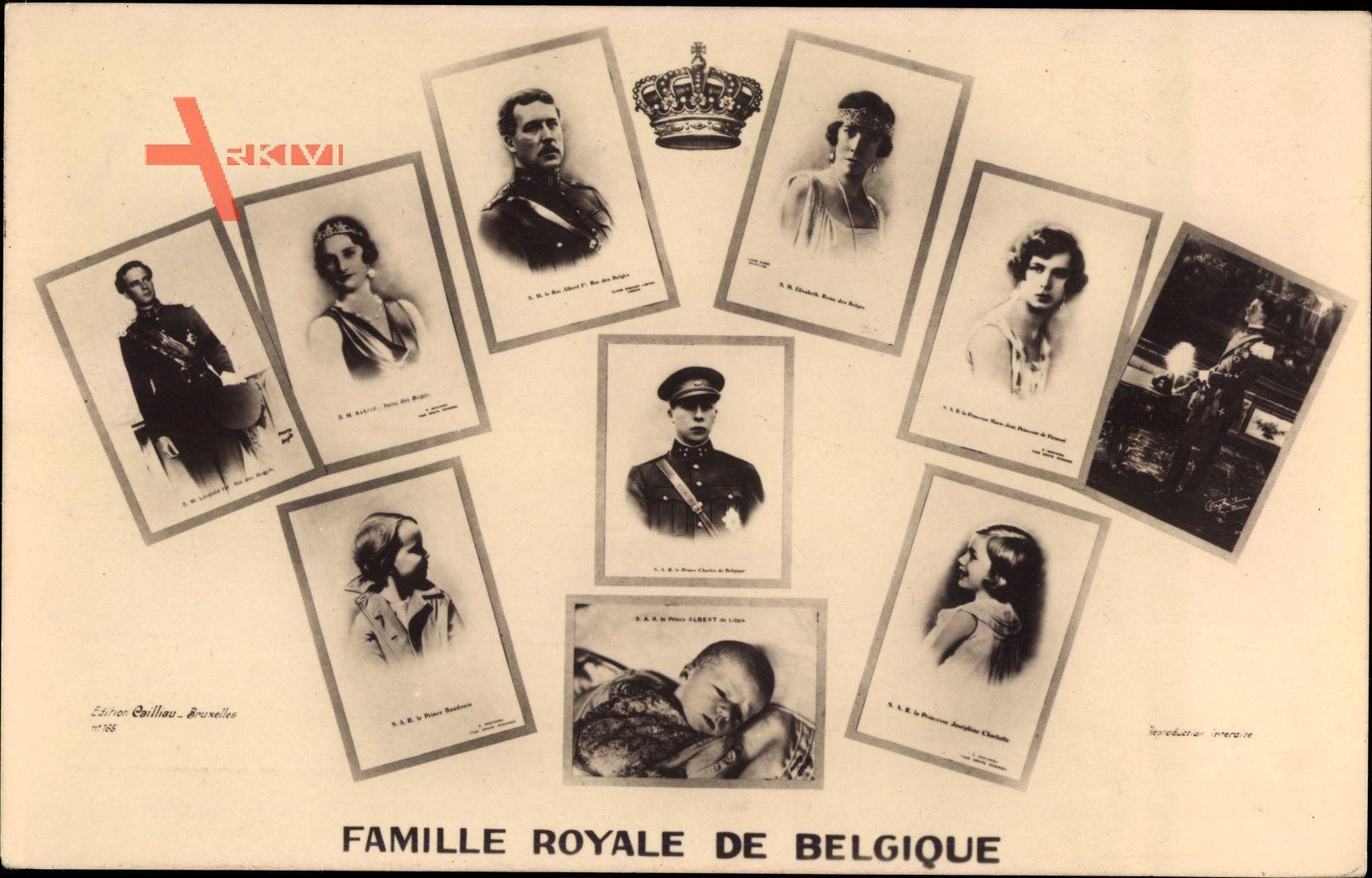 König Albert I. von Belgien, Königin Elisabeth, Nachkommen
