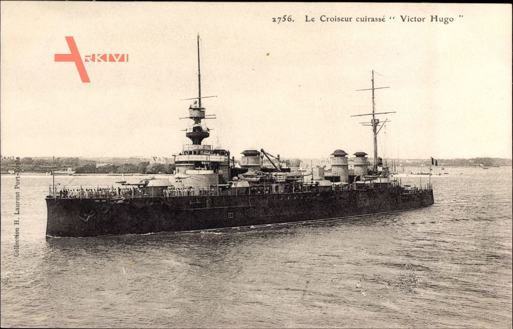 Französisches Kriegsschiff - der Schlachtkreuzer 'Victor Hugo'