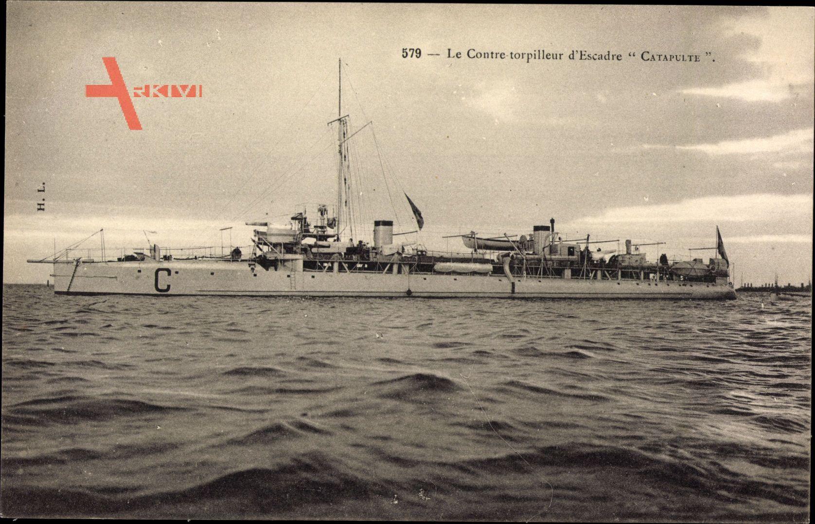 Französisches Kriegsschiff, Contre Torpilleur dEscadre, Catapulte