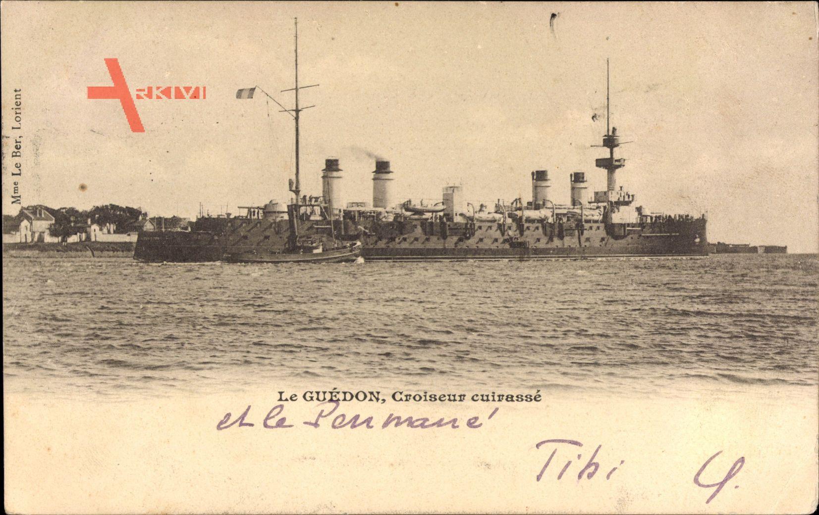 Französisches Kriegsschiff, Guédon, Croiseur cuirassé