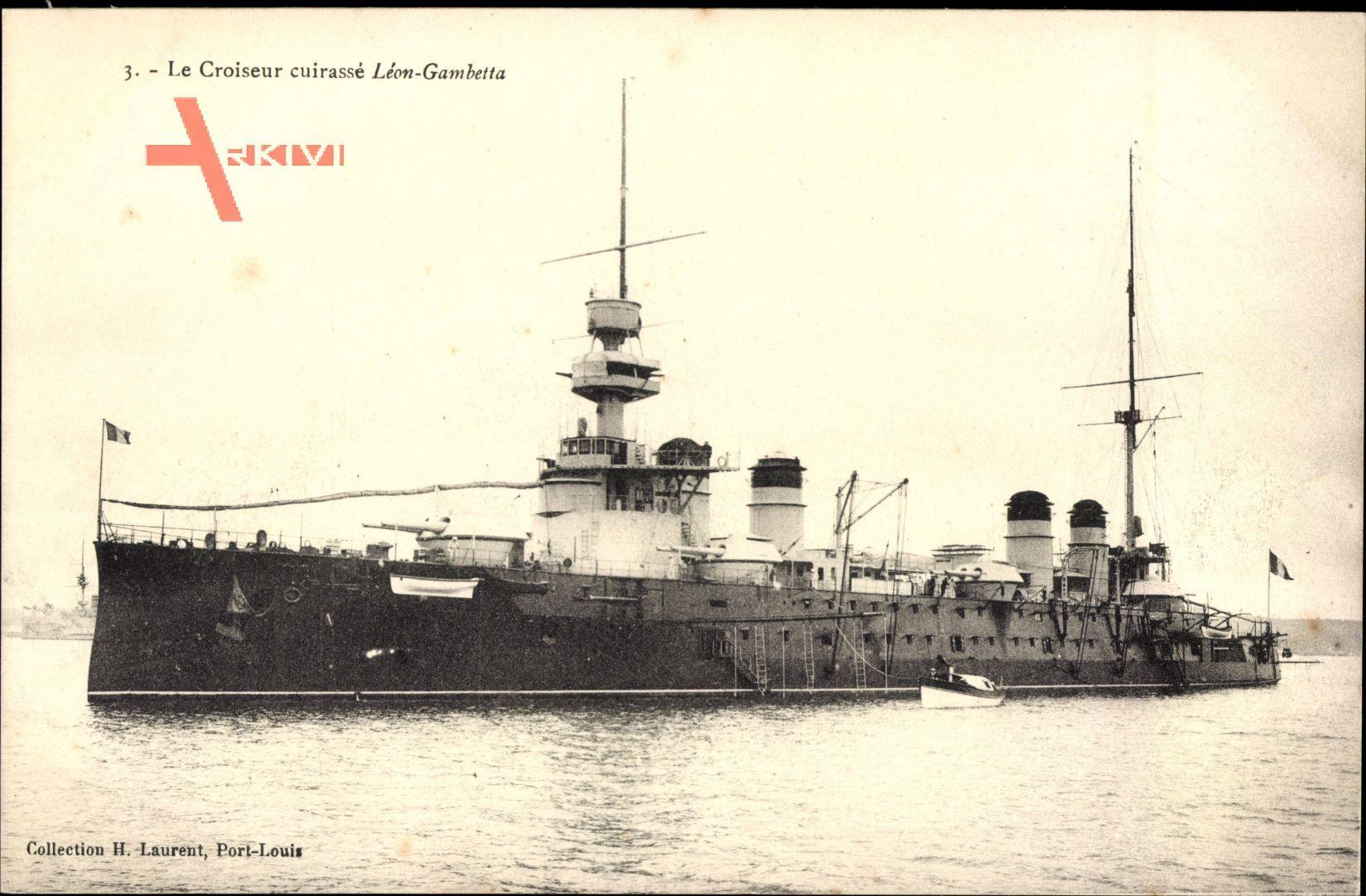 Französisches Kriegsschiff, Croiseur cuirassé Léon Gambetta