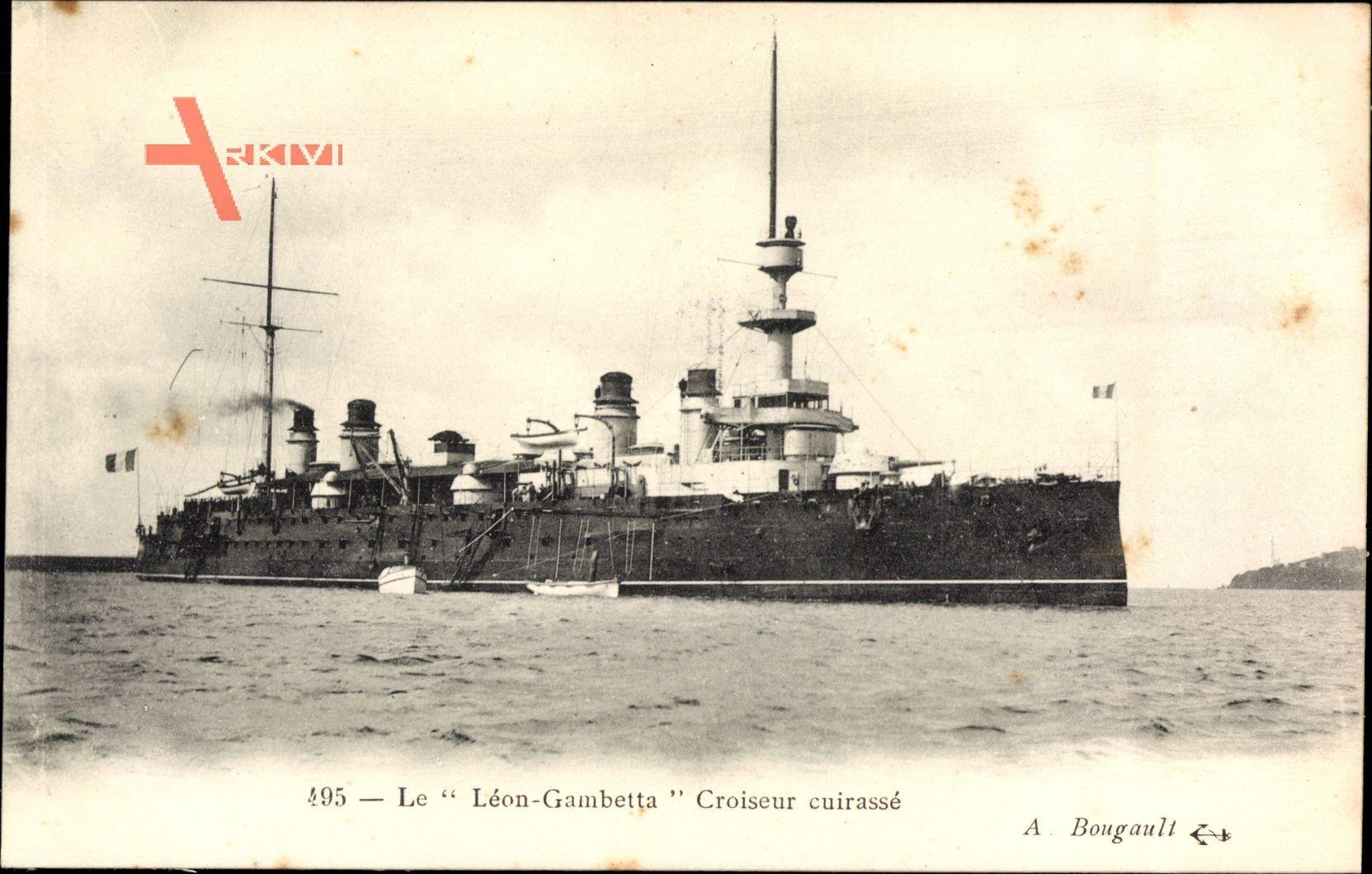 Französisches Kriegsschiff, Léon Gambetta, Croiseur cuirassé