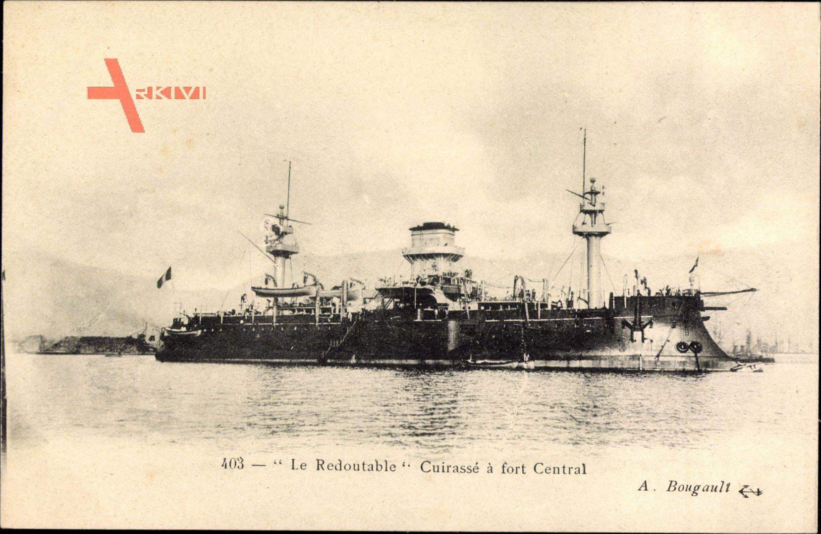 Französisches Kriegsschiff, Redoutable, Cuirassé à fort Central