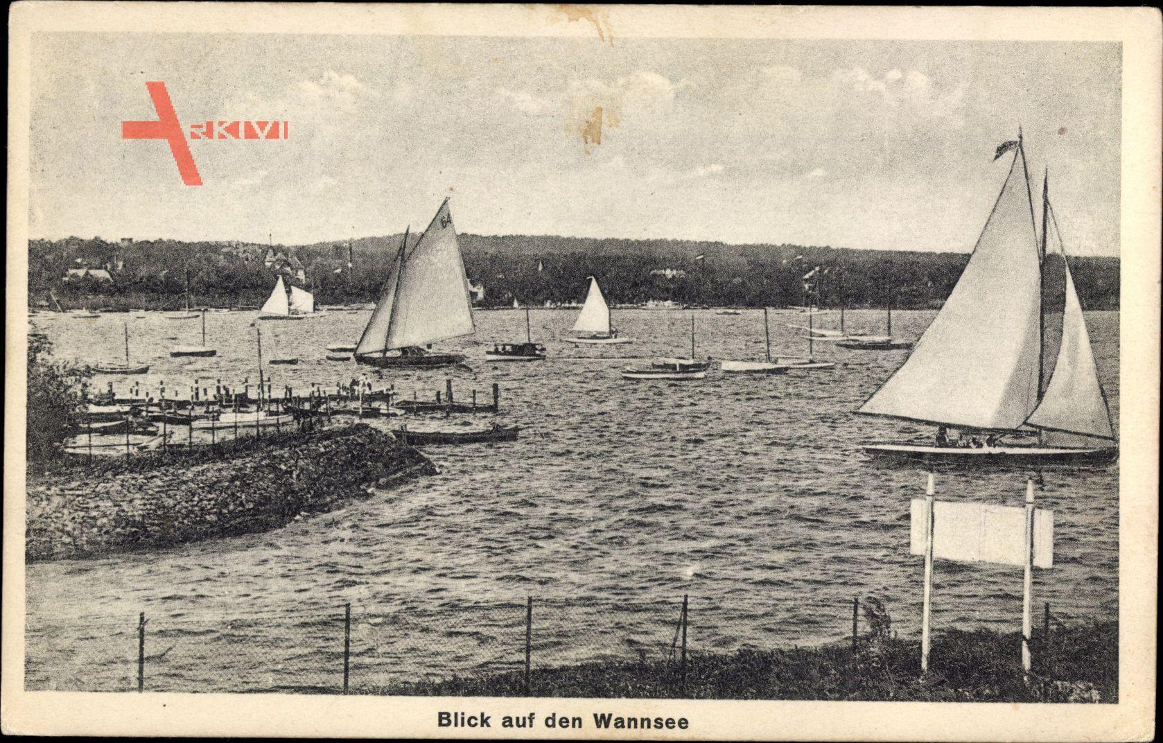 Berlin Zehlendorf Wannsee, Blick auf den Wannsee, Segelboote