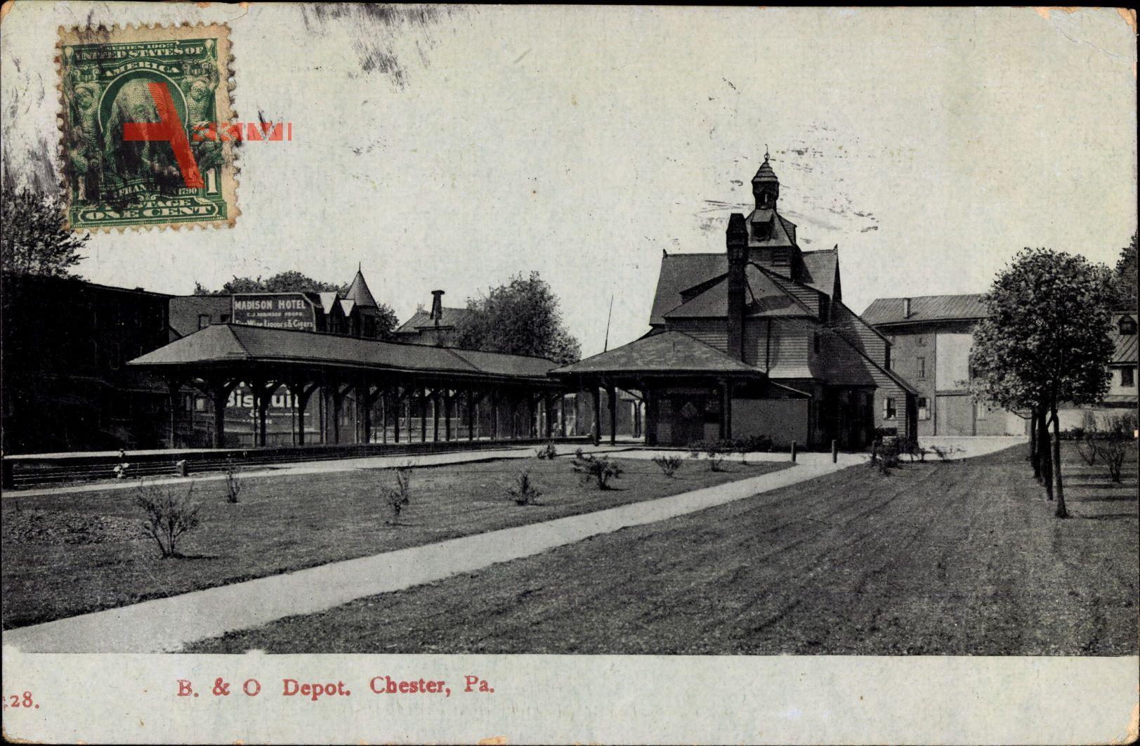 Chester Pennsylvania USA, BO Depot, Bahnhof, Railway Station