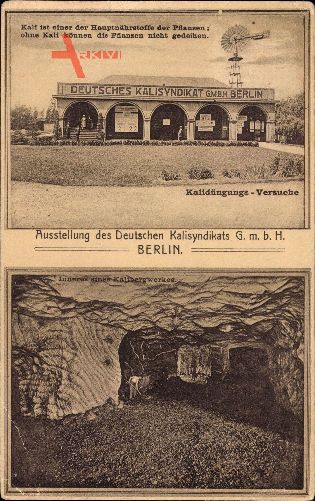 Leipzig in Sachsen, 28. Landwirtschaftl. Ausst. 1921, Dt. Kalisyndikat Berlin