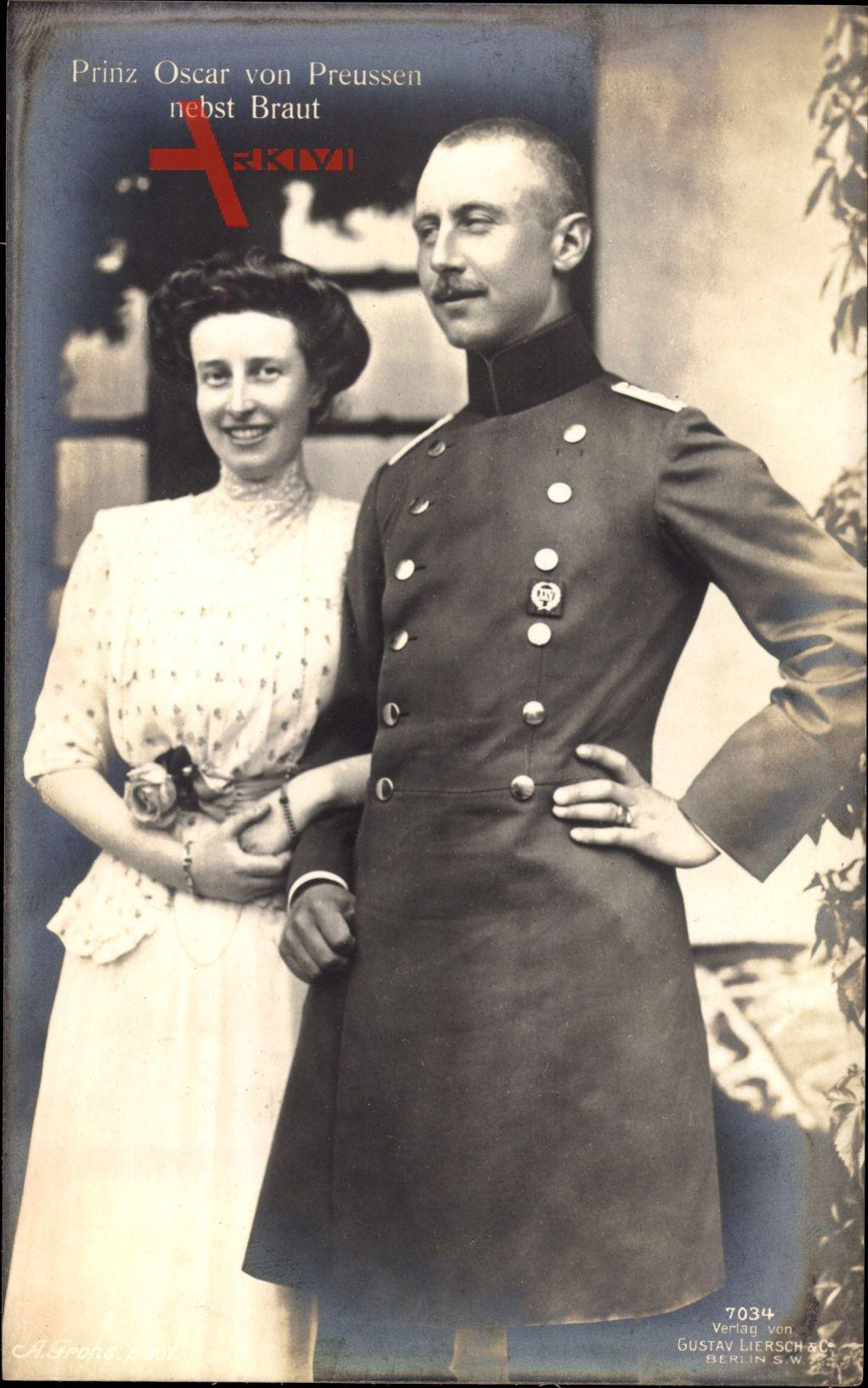 Oskar Prinz von Preussen, Gräfin Ina Marie von Bassewitz, Liersch 7034