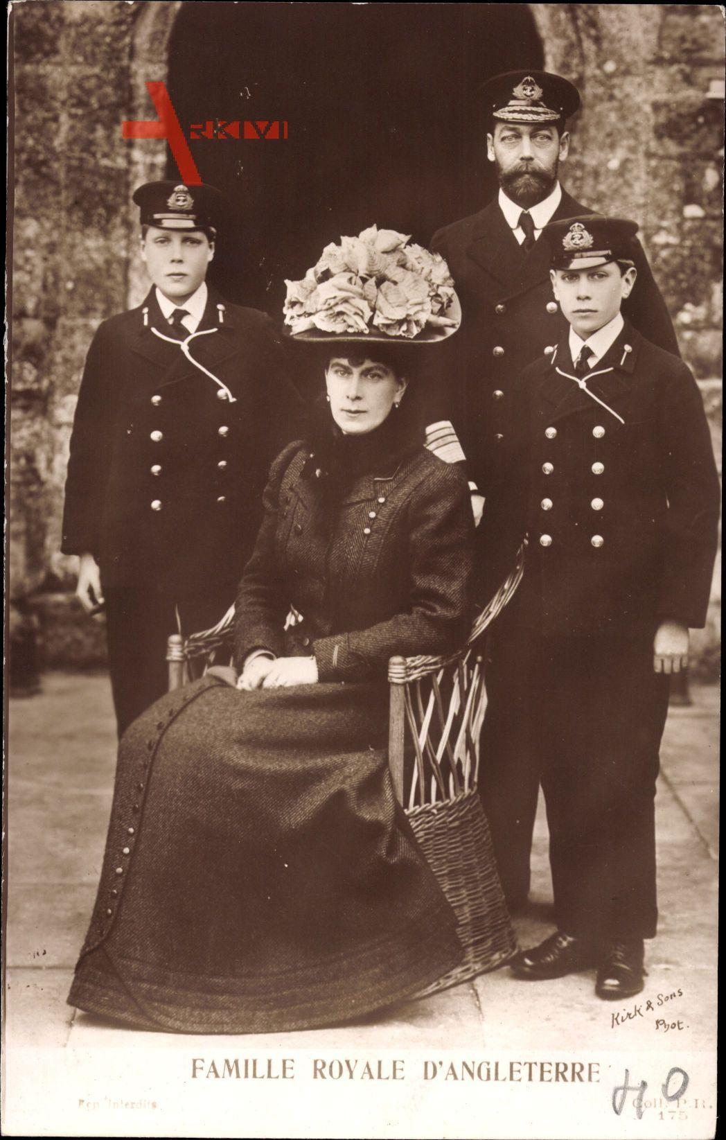 König Georg V. von England, Maria von Teck, Prinzen
