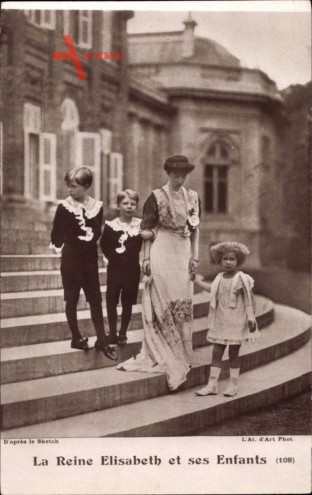 Königin Elisabeth Gabriele von Belgien, Enfants, Kinder