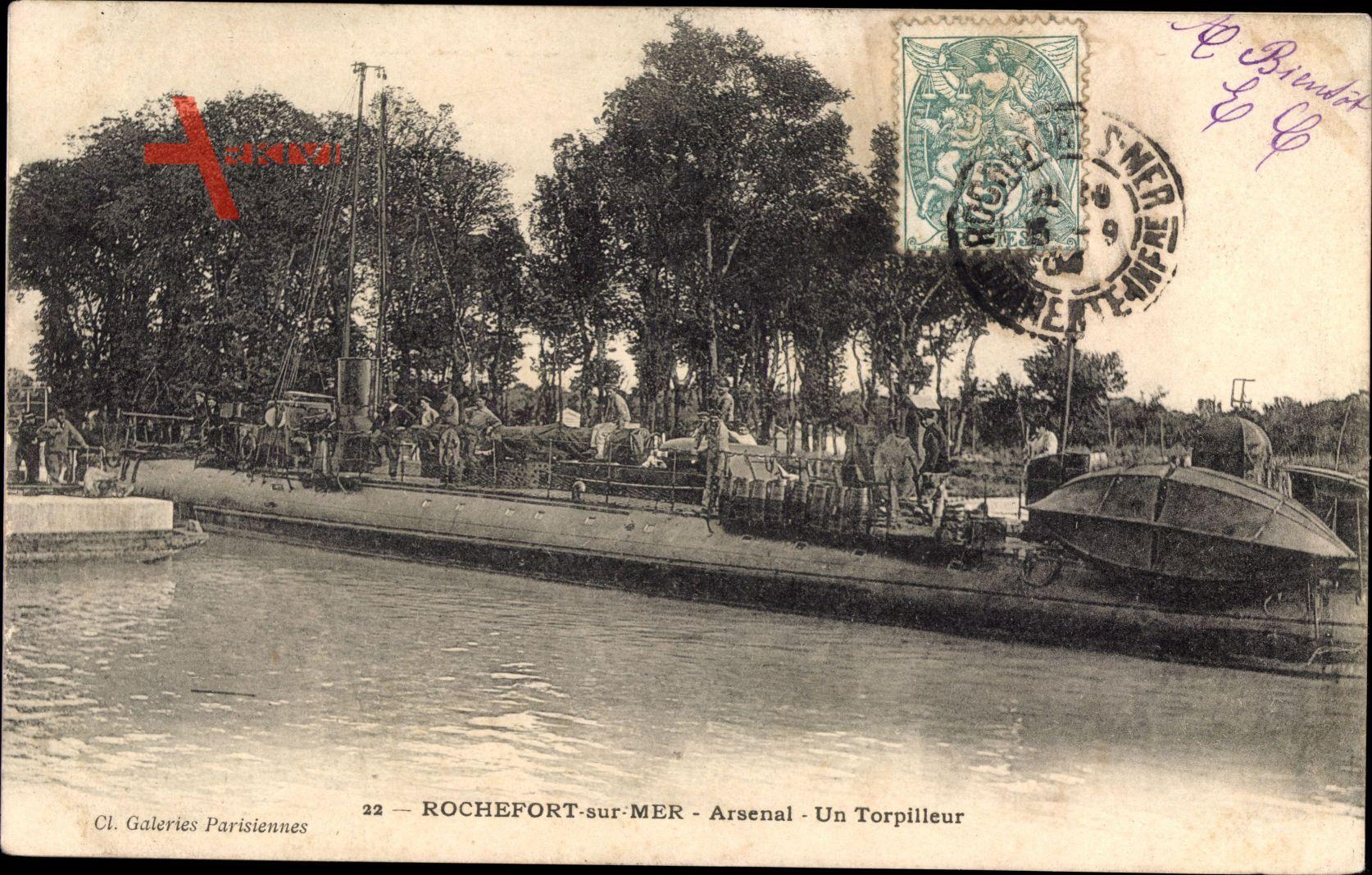 Rochefort sur Mer Charente Maritime, Arsenal, Torpilleur, Marine Militaire