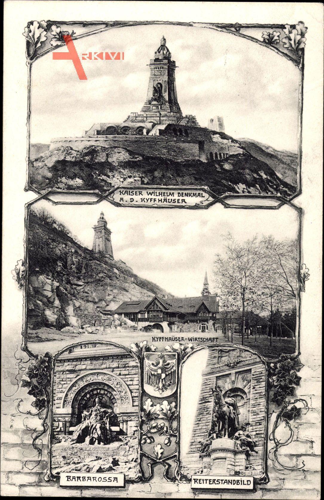 Steinthaleben Kyffhäuserland, Kaiser Wilhelm Denkmal, Barbarossa, Standbild