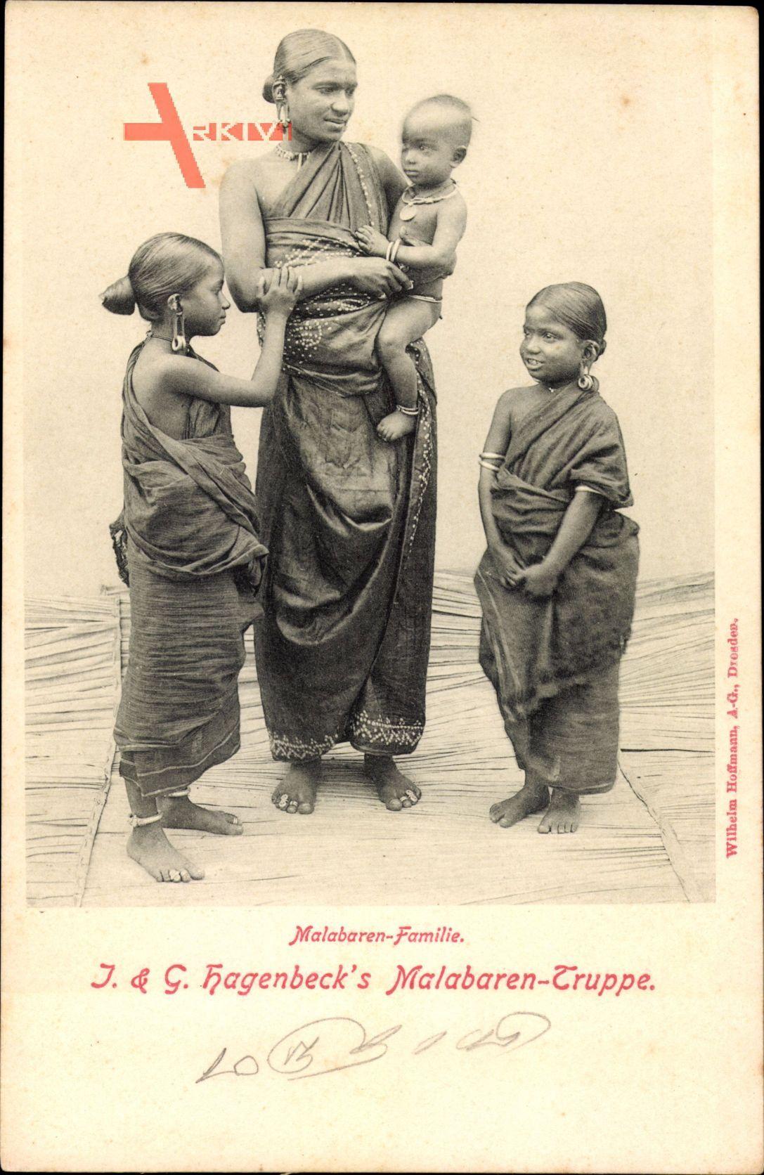 Malabarenfamilie, Hagenbecks Malabaren Truppe, Inder