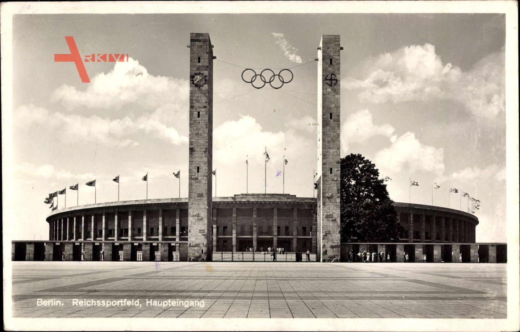 Berlin Charlottenburg, Reichssportfeld, Olympiastadion, Haupteingang