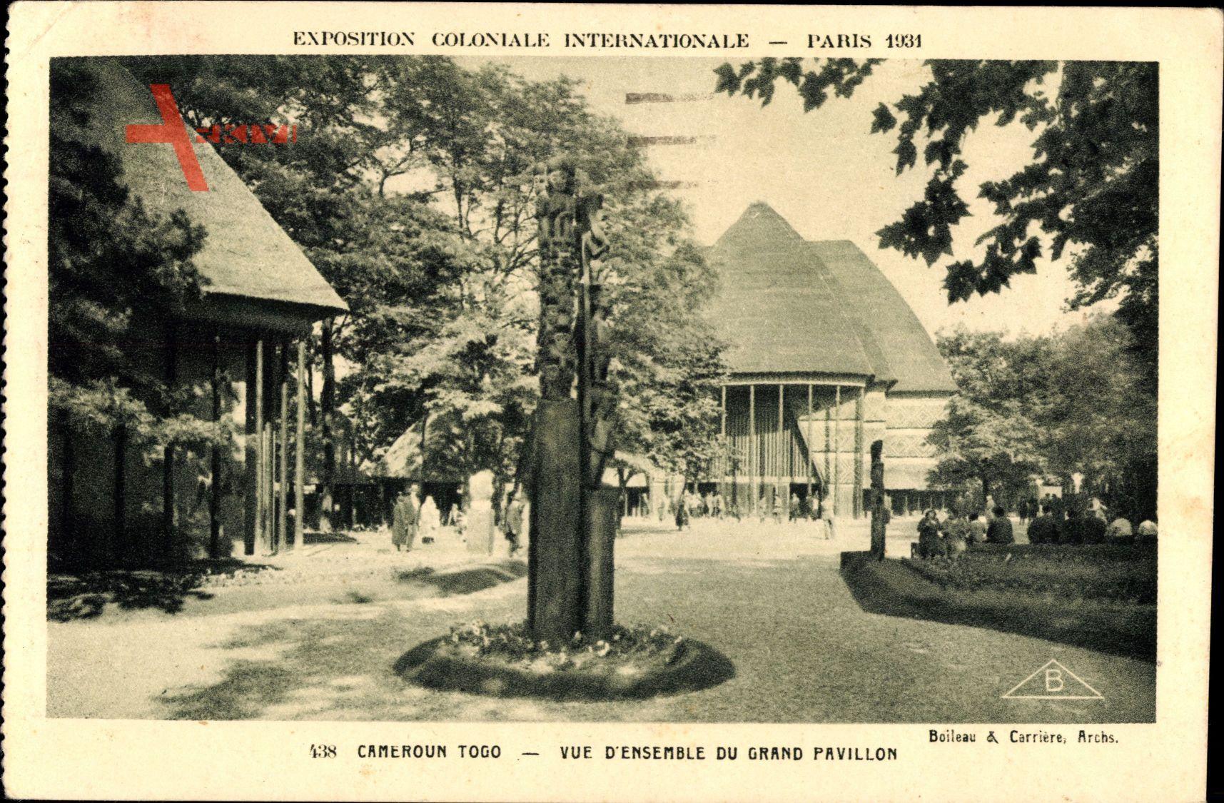 Paris, Expo, Weltausstellung 1931, Kamerun Togo, Grand Pavillon