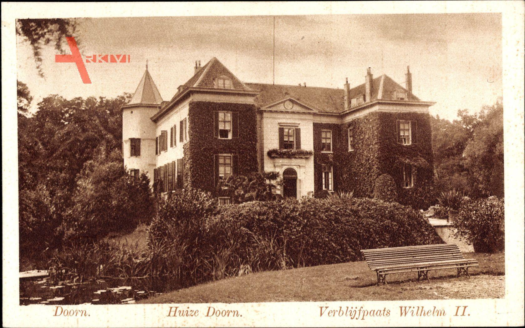 Doorn Utrecht, Huize Doorn, Haus Doorn, Exil Kaiser Wilhelm II.