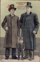Les deux extrêmes en grandeur et en petitesse, Riesen Brüder und Liliputaner