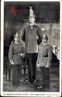 Sr. Majestät größter Soldat, Der lange Josef, Riese, Uniform