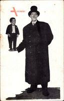 Le Géant Francais Armand, 2.28m Hauteur, Nain Francais Robert, 78cm
