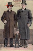 Les deux extrêmes en grandeur et en petitesse, Frères Hugo, Nain