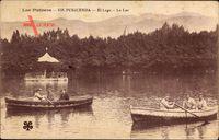 Puigcerda Katalonien, Los Pirineos, El Lage, Le Lac, Boote im See