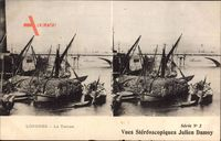 London City, La Tamise, Fischerboote auf der Themse, Brücke