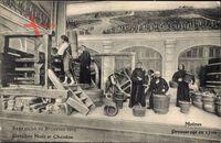 Bruxelles Brüssel, Exposition 1910, Pavillon Moet et Chandon, Pressurage