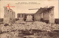 Baie Mahault Guadeloupe, LÉglise après le Cyclone, 12 Septembre 1928