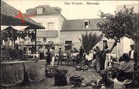São Vicente Brasilien, Mercado, Marktplatz, Besucher