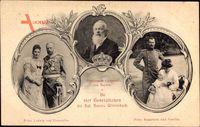 Prinzregent Luitpold von Bayern, Kronprinz Rupprecht von Bayern, Prinz Ludwig