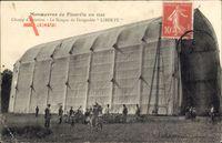 Manoeuvres de Picardie en 1910, Hangar du Dirigeable Liberte, Luftschiff