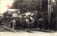 Bernay, Catastrophe 10 Sept. 1910, Tender projete par dessus la locomotive