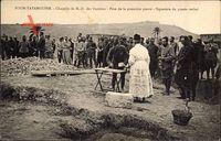 Foum Tatahouine, Chapelle de N.- D. des Victoires, Pose de la premiere pierre