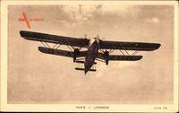 Paris Londres, Doppeldecker, Avion Hanno Type Handley Page 42