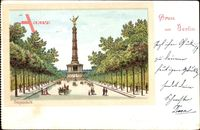 Berlin Tiergarten, Blick auf die Siegessäule, Allee