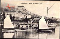 Neuchâtel Neuenburg Stadt, Musée et bateau à Voile, Segelboote