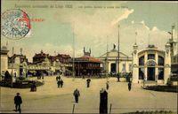 Liege, Weltausstellung 1905, Les jardins devant le palais des Fêtes