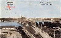 Warszawa Warschau Polen, Anssicht von Prag, Brücke