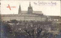 Praha Prag, Blick auf die Burg, Hradcany, Vorderansicht