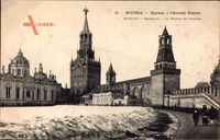 Moskau Russland, Kremlin, La Porte e Paques, Schloss im Winter, Schnee