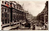 London England, Regent Street, Straßenpartie, Geschäfte, Passanten, Bus