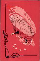 Jugendstil Audax Reklame, Zeppelin, Dirigéable, Frankreich